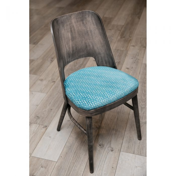 Wooden Back and Upholstered seat