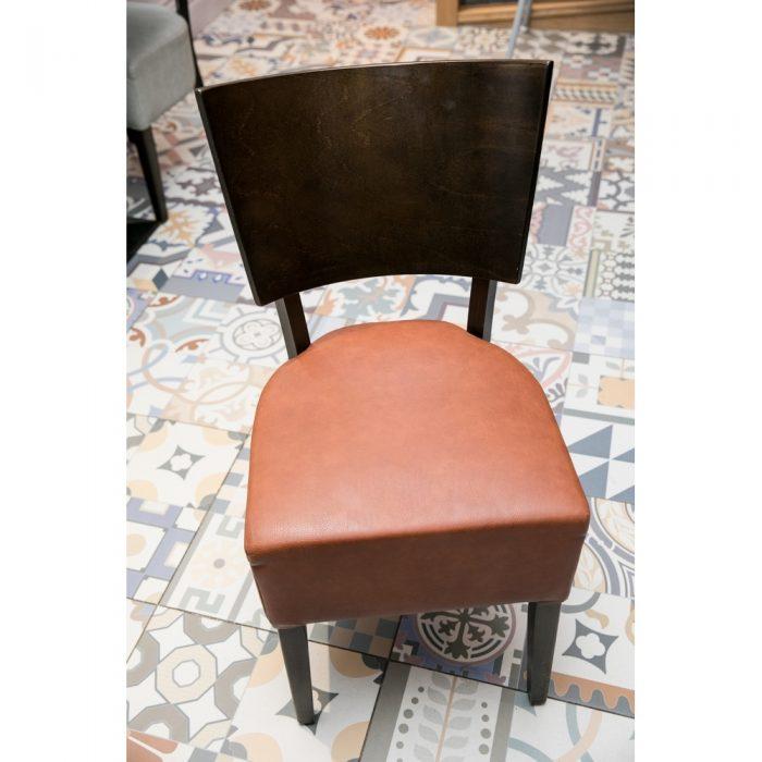 Upholstered Seat Wooden Back