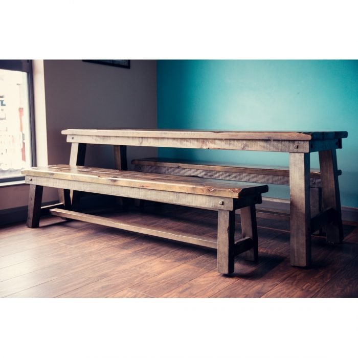 Warrington Large Table and Bench Set