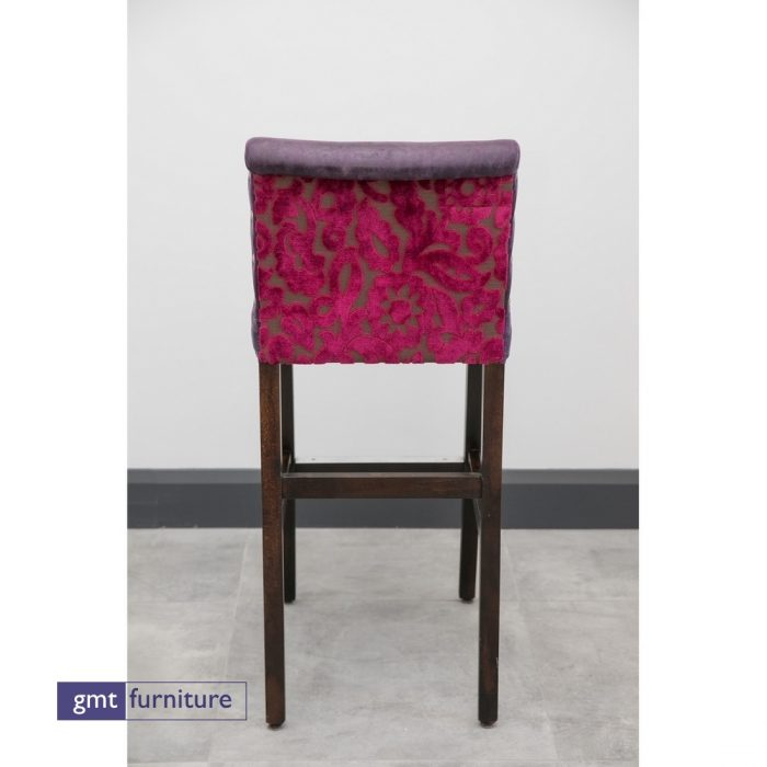 Upholstered seat and Back with studding