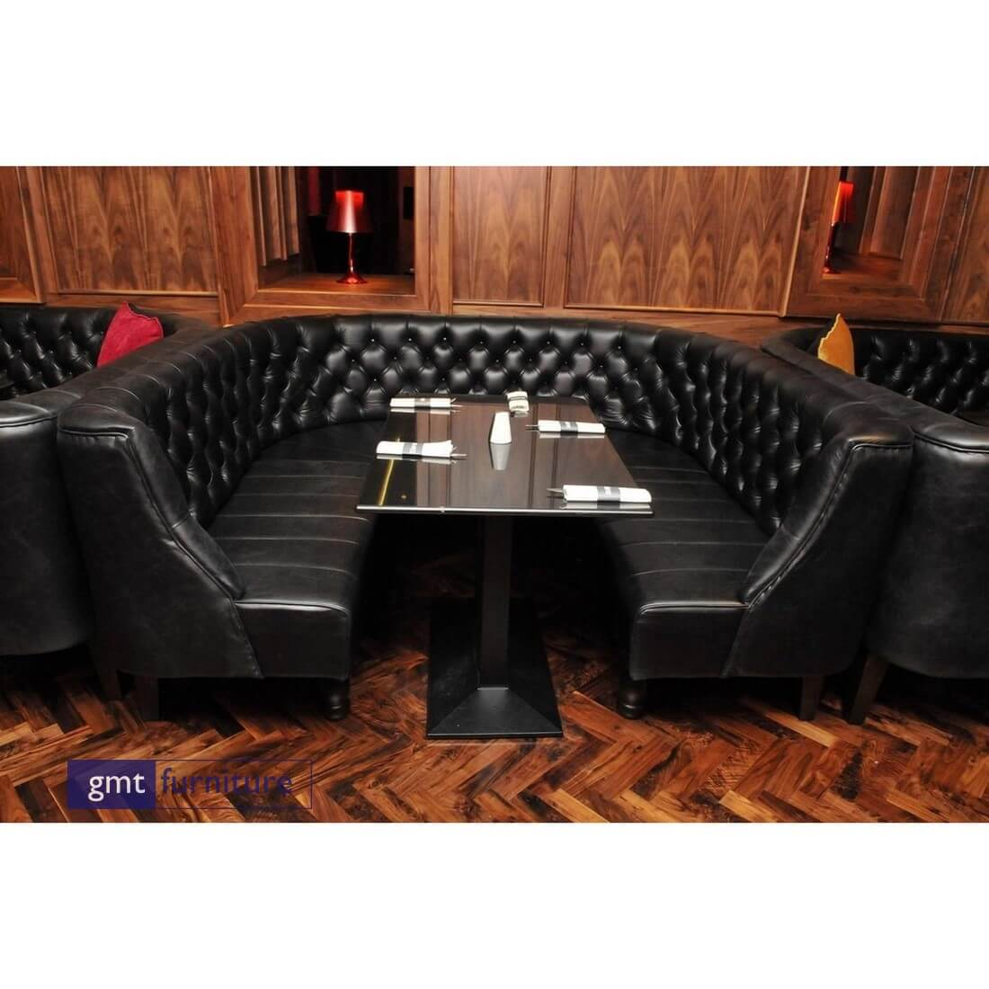 Deep Buttoned Large Circular Booth