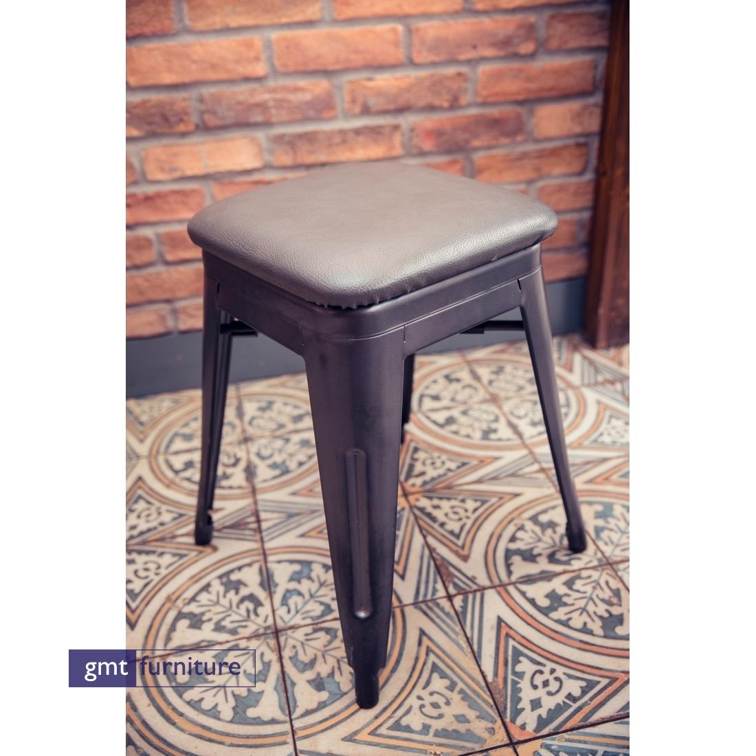 Metal Stool Upholstered Seat
