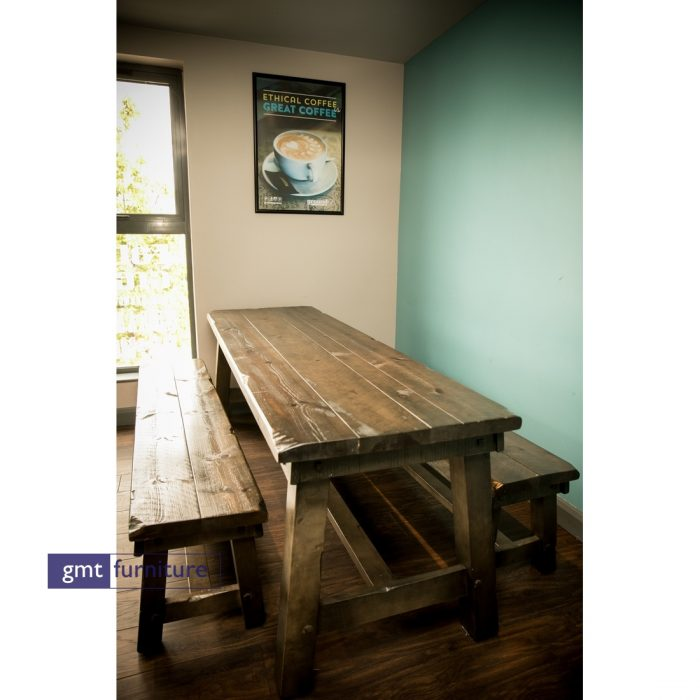 Wooden Table and Bench Set