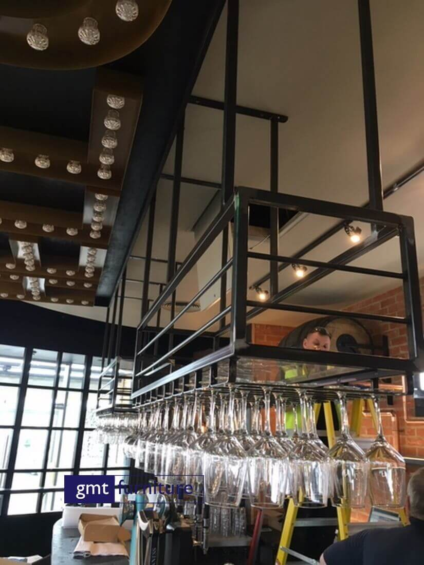 Metal Glass Rack